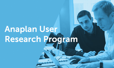 Join the Anaplan User Research Program!
