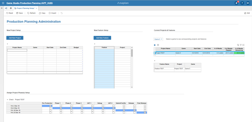 2) GS Project Setup Dashboard.PNG
