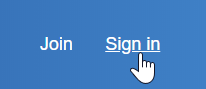 Navigate to the top-right corner of the Anaplan Community to sign in.