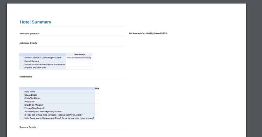 Exported PDF View