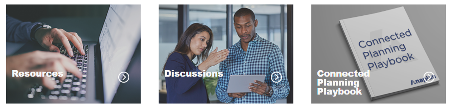 The new areas you'll find within the Center of Excellence section of the Anaplan Community.