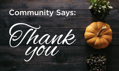 Community Says: Thank You!
