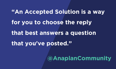 Community Says: Accepted Solutions in Forums