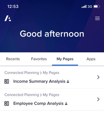 Anaplan Mobile - Oct 22, 2019 Improved SSO Login & My Pages!