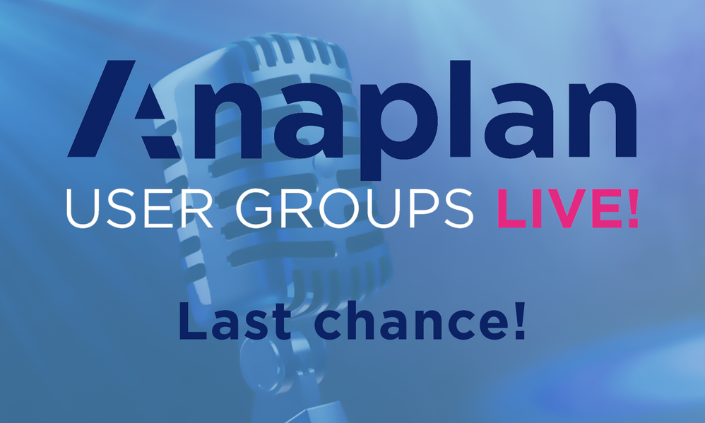 Register Today for User Groups Live!