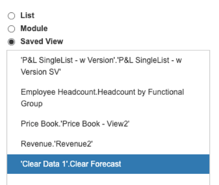 Import into your target module – select your source saved view