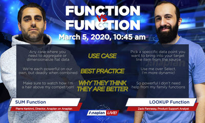 Function vs Function: SUM vs LOOKUP