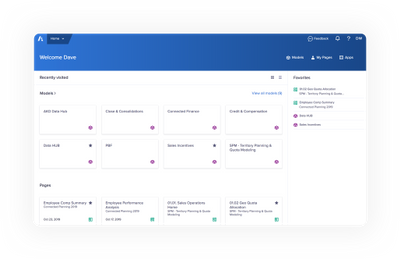 Home will become your Anaplan entry point