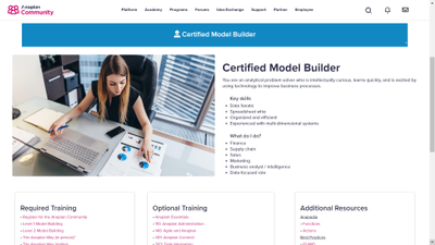 Level up with the Anaplan Talent Builder.