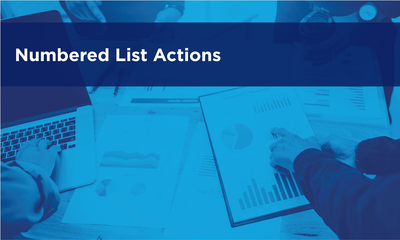 Numbered List Actions