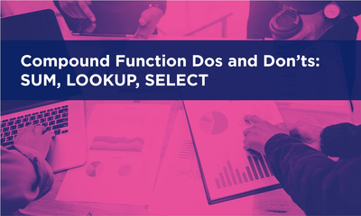 Compound Functions: SUM, LOOKUP, SELECT