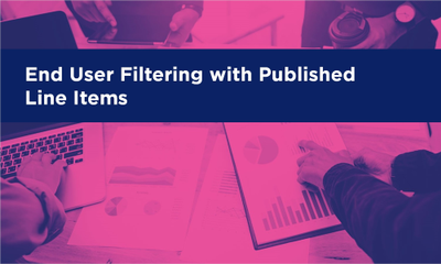 End User Filtering with Published Line Items