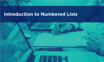 Introduction to Numbered Lists