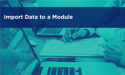 Import Data to a Module