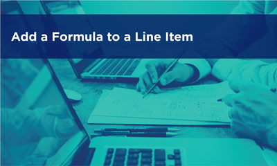 Add a Formula to a Line Item