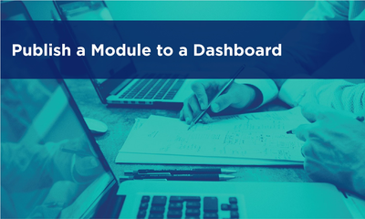 Publish a Module to a Dashboard