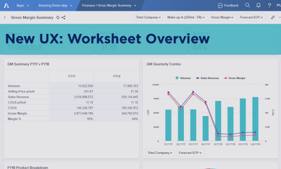New UX: Worksheet Overview