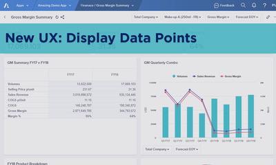 New UX: Display Data Points on a Chart