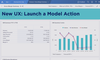 New UX: Launch a Model Action