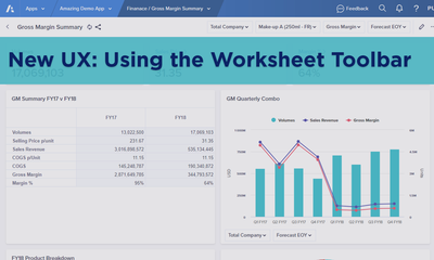 New UX: Using the Worksheet Toolbar