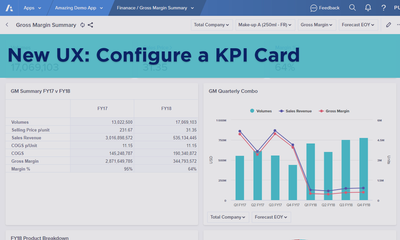 New UX: Configure a KPI Card