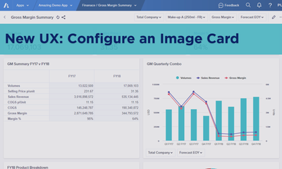 New UX: Configure an Image Card