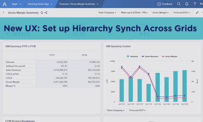 New UX: Set up a Hierarchy Sync Across Grids
