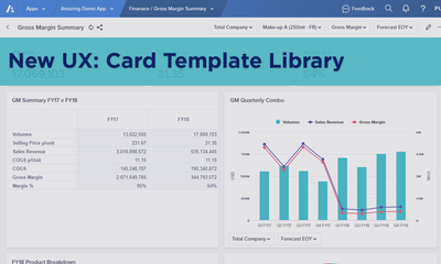 New UX: Card Template Library