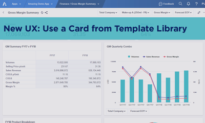 New UX: Use a Card from Template Library