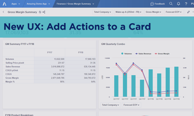 New UX: Add Actions to a Card