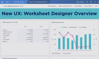 New UX: Worksheet Designer Overview