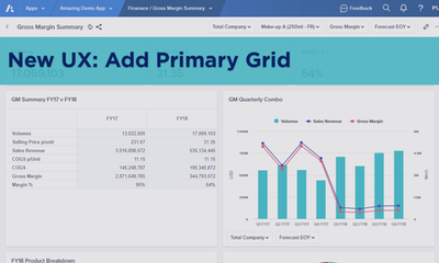 New UX: Add Primary Grid to a Worksheet