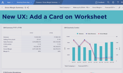 New UX: Add a Card on a Worksheet