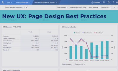 New UX: Page Design Best Practices
