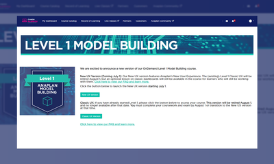 Learn in the New UX with Level 1 Model Building