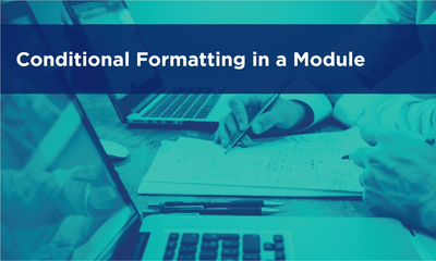 Conditional Formatting in a Module