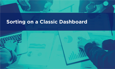 Sorting on a Classic Dashboard
