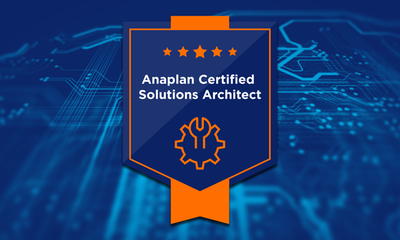 New Anaplan Solution Architect Certification