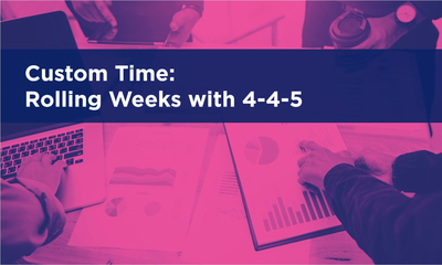 Custom Time - Rolling Weeks