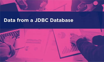 Anaplan Connect - Data from a JDBC Database