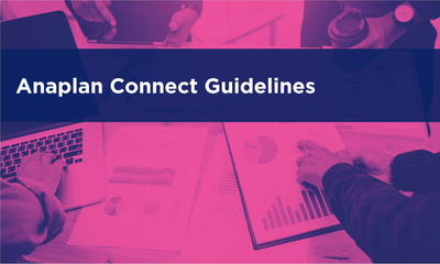 Anaplan Connect Guidelines