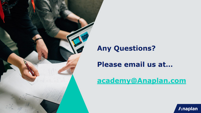 Instructions for the Anaplan Academy Learning Center