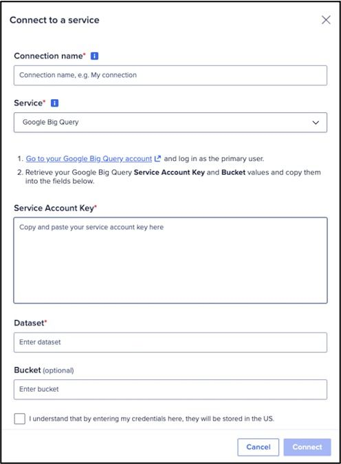 Setting up the Google BigQuery connection in Anaplan CloudWorks